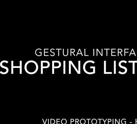 user experience gestural interface video